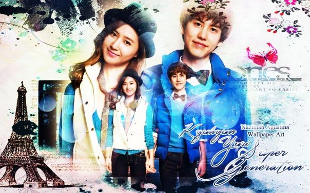 kyuri cho kyuhyun kwon yuri snsd suju super generation blue spao couple by nazimah agustina