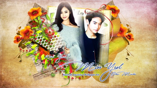 minyul couple shinee generation snsd kwon yuri choi minho wallpaper simple romance by nazimah agustina