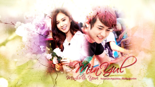 minyul couple shinee generation snsd kwon yuri choi minho wallpaper simple romance soft flower by nazimah agustina