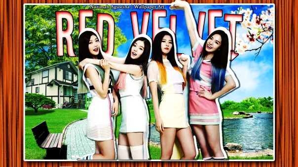 red velvet cute scrapbook irene joy seulgi wendy wallpaper by nazimah agustina