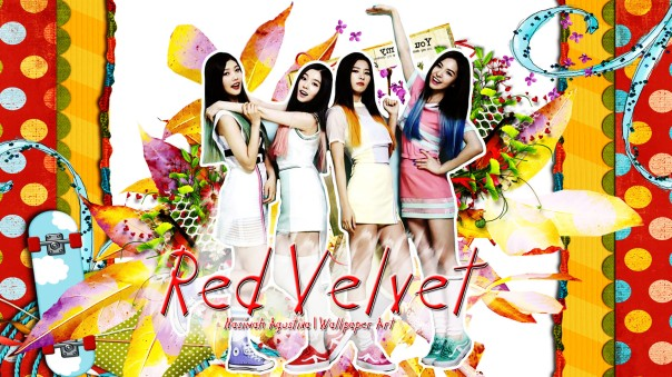 red velvet cute wallpaper frame orange red green blue bae joohyoen kang seulgi son seunghwan park sooyoung by nazimah agustina