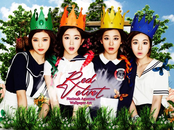 red velvet irene bae kang seulgi wendy son park joy nature manipulation fresh cute wallpaper by nazimah agustina