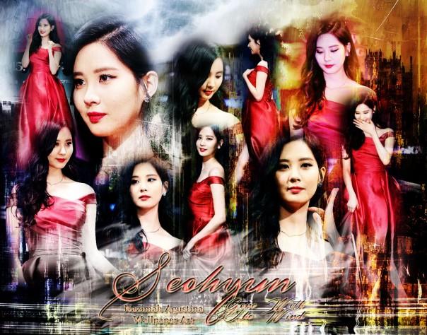 snsd seohyun dramus press beauty red dress by nazimah agustina wallpaper