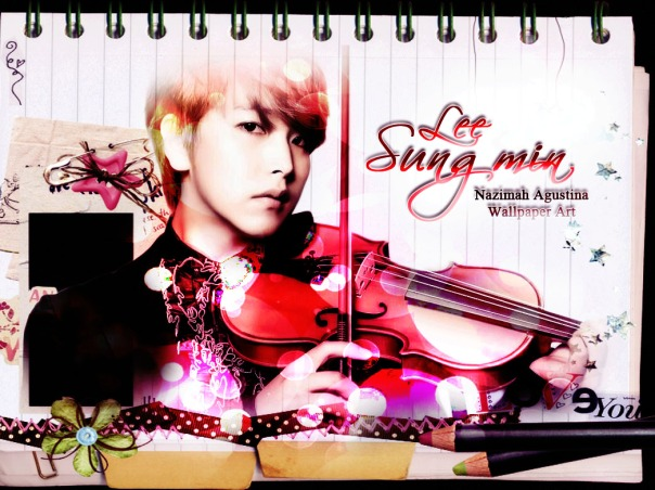 sungmin lee super junior wallpaper soft effect photoshop by nazimah agustina