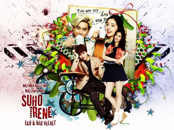surene suho exo kim junmyeon bae joohyun irene red velvet cute wallpaper by nazimah agustina