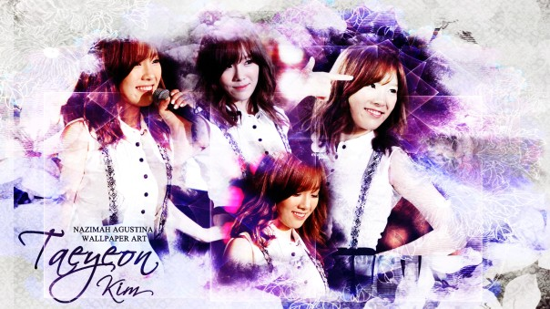 taeyeon kim snsd the best singer female vocalist korean girlgropup leader wallpaper by nazimah agustina
