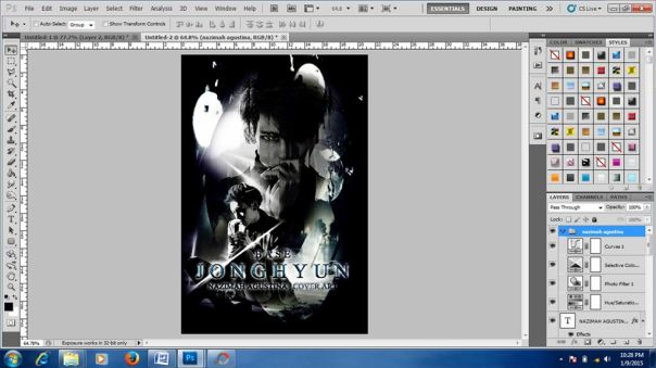 tutorial edit stock membuat cover art dark light shinee kim jonghyun debut solo base 7