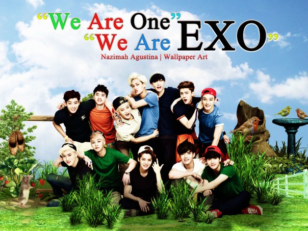 we are one we are exo ot12 nature wallpaper by nazimah agustina