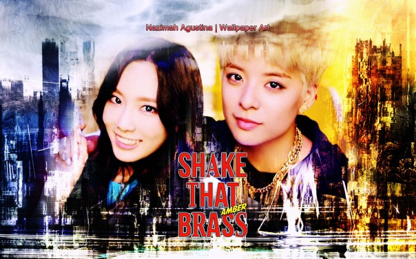 amber ft taeng fx taeyeon girls generation beautiful shake that brass solo debut wallpaper by nazimah agustina