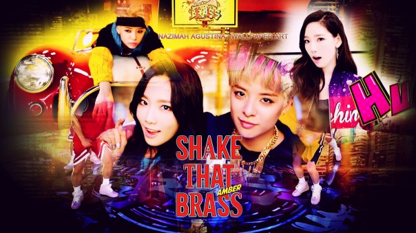 Amber ft taeng taeyeon snsd fx liu shake that brass mv cature screencaps teaser wallpaper by nazimah agustina
