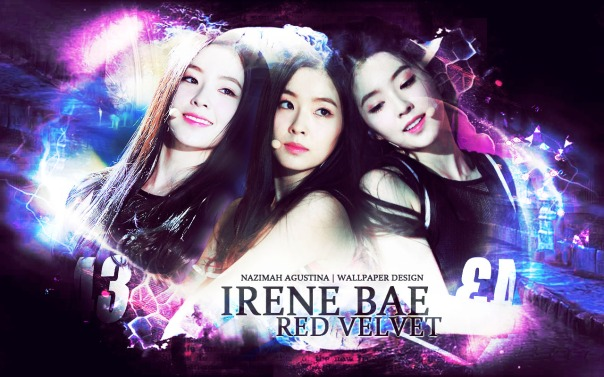 BAE IRENE red velvet light abstrcat wallpaper happiness by nazimah agustina