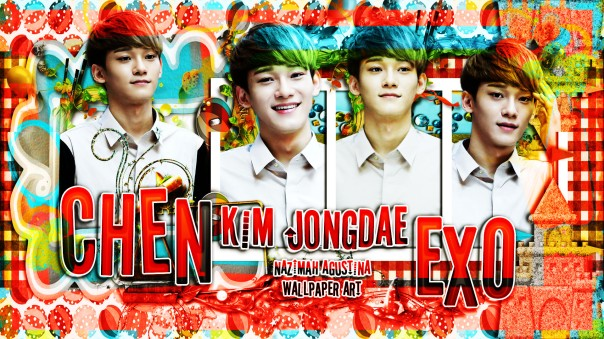 chen exo kim jongdae cute fancy wallpaper new 2015 main vocalist by nazimah agustina