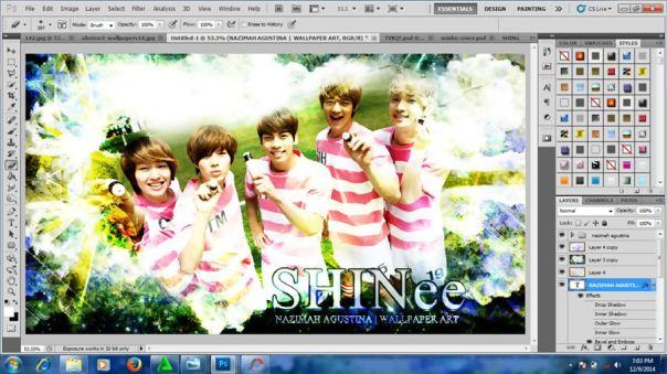 how to make nature abstract wallpaper using photoshop shinee onew jonghyun key minho taemin 5