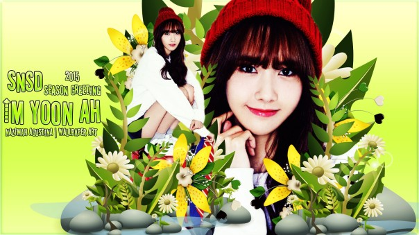 IM Yoona snsd 2015 season greeting wallpaper cute beautiful by nazimah agustina