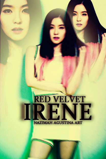 IRENE bae red velvet pink mystery cover art simple by nazimah agustina