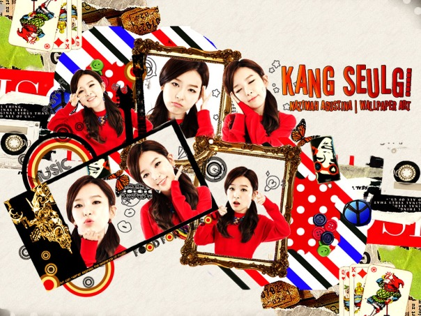 kang seulgi hbd red velvet for her bhritday red korean scrapbook wallpaper art graphic kpop by nazimah agustina