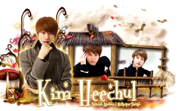 kim heechul cute house chocolate wallpaper by nazimah agustina