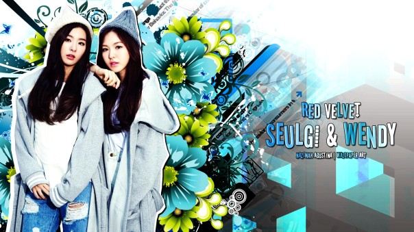 seulwen seulgi kang wendy son red velvet seunghwan blue wallpaper by nazimah agustina
