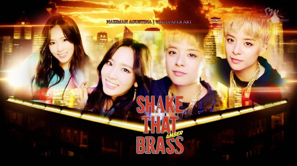 shake that brass taeyeon snsd f(x) amber solo debut mv capture by nazimah agustina wallpaper