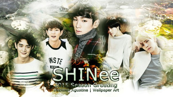shinee 2015 season greeting awesome wallpaper onew minho key jonghyun taemin by nazimah agustina