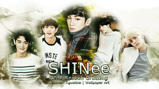 shinee 2015 season greeting white version wallpaper onew minho key jonghyun taemin by nazimah agustina
