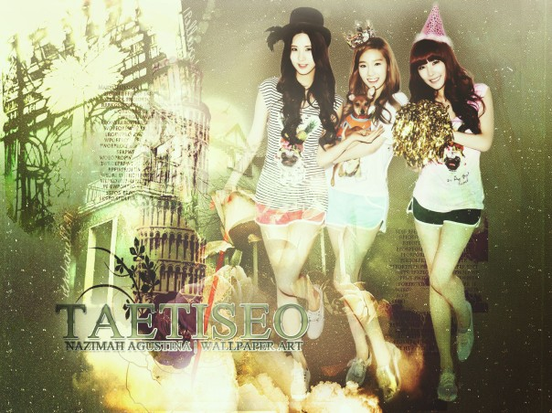 TAEtiseo vintage soft wallpaper snsd sub unit by nazimah agustina
