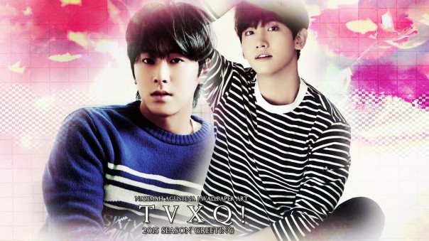 tvxq 2015 season greeting wallpaper 1 soft pink by nazimah agustina simple
