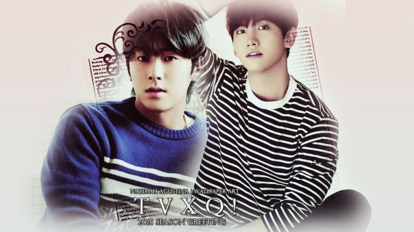 tvxq 2015 season greeting wallpaper 2 soft pink by nazimah agustina simple
