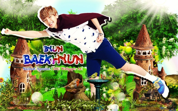 baekhyun cute byun exo nature wallpaper by nazimah agustina