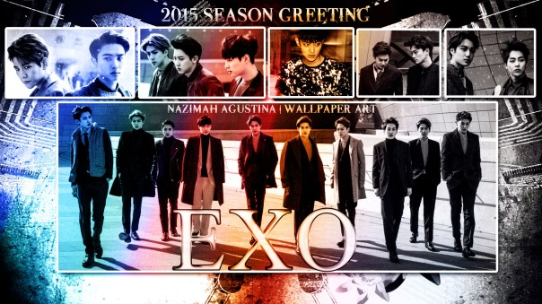 exo 2015 season greeting wallpaper drama romantic new ot10 kuxion by nazimah agustina