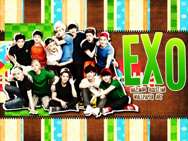 EXO green land ot12 2015 nrew wallpaper cute scrapbook by nazimah agustina