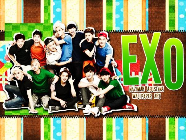 EXO green land ot12 2015 nrew wallpaper cute scrapbook by nazimah agustina