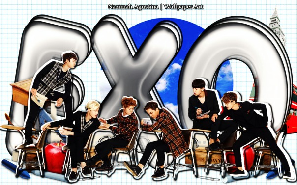 exo school life ivy club do suho luhan kai chanyeol chen wallpaper by nazimah agustina