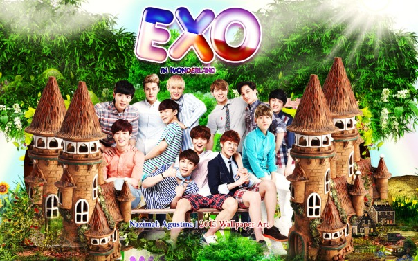 EXO wonderland ot12 cute nature wallpaper new by nazimah agustina