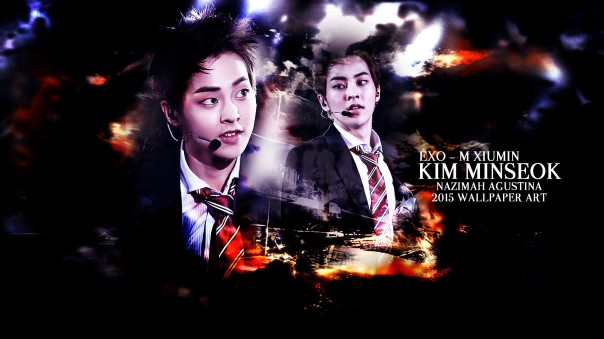 exo xiumin kim minseok abstract light wallpaper 2015 by nazimah agustina art design