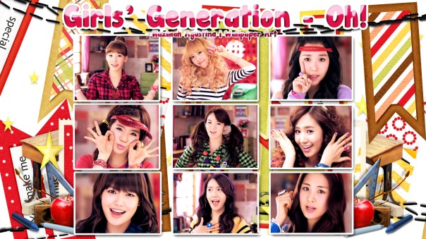gg oh korean version snsd girls generation cute frame clipart taeyeon jessica tiffany sunny hyoyeon yuri sooyoung yoona wallpaper by nazimah agustina