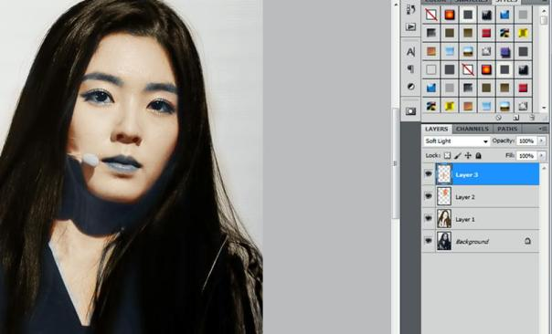 how to colorize black & white photo with adobe photoshop red velvet irene 8