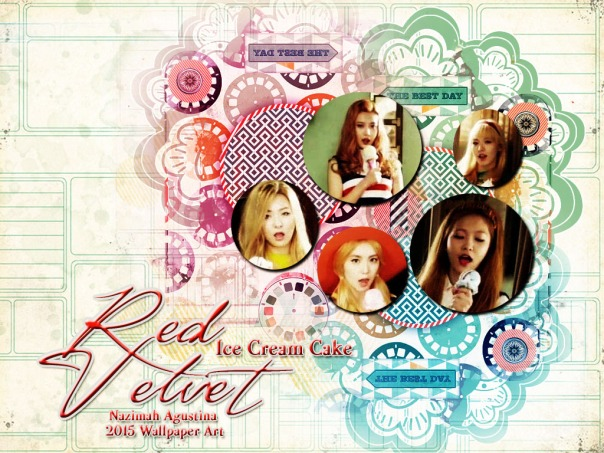ice cream cake red velvet 1st album irene joy wiendy seulgi yeri wallpaper by nazimah agustina 1