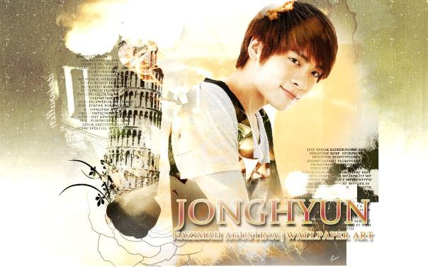 jonghyun kim shinee soft vintage wallpaper by nazimah agustina