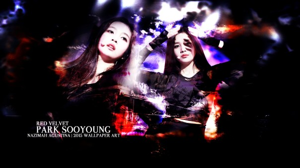 joy red velvet park sooyoung abstract light wallpaper by nazimah agustina