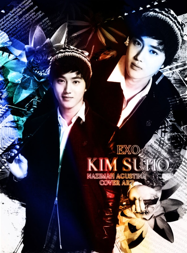kim suho junmyeon suho cover light scrap by nazimah agustina soft color