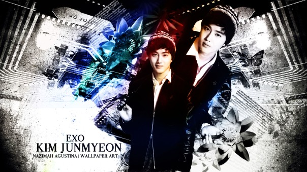 kim suho junmyeon suho wallpaper vintage light scrap by nazimah agustina