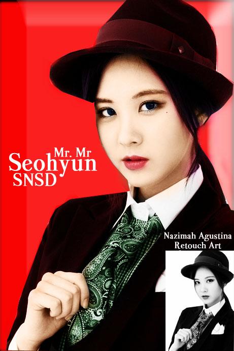 mr mr seohyun snsd era retouch art colorize b&w photo by nazimah agustina