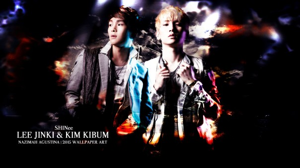onew key onkey lee jinki kim kibum shinee abstract light wallpaper 2015 by nazimah agustina art design