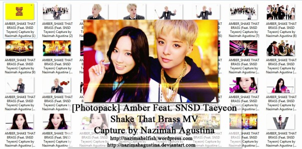 preview photo pack mv debut solo f(x) shake that brass mv by nazimah agustina taeyeon snsd amber