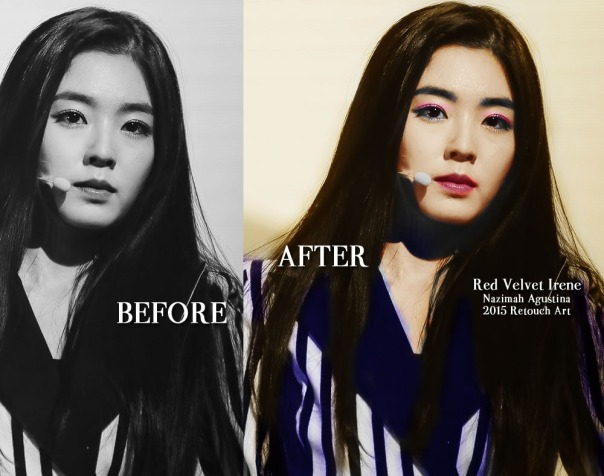 preview RED velvet bae irene for retouch tutorial how to colorize black & white photo using ps