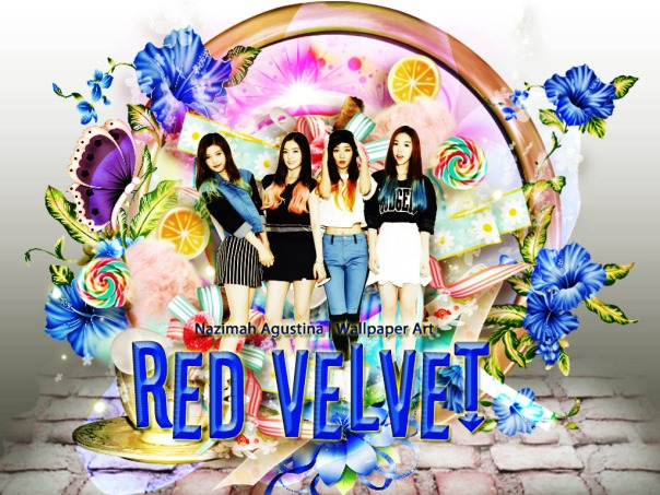red velvet frame blue cute red orange green bae joohyun kang seulgi son seunghwan park sooyoung by nazimah agustina