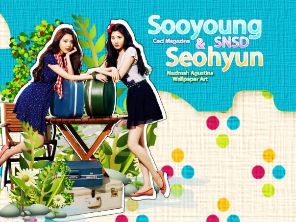 SEOSOO NATURE snsd seohyun sooyoung cute by nazimah agustina
