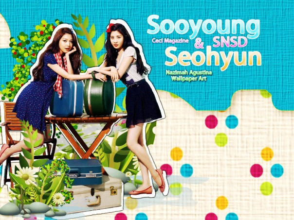 SEOSOO NATURE snsd seohyun sooyoung cute by nazimah agustina