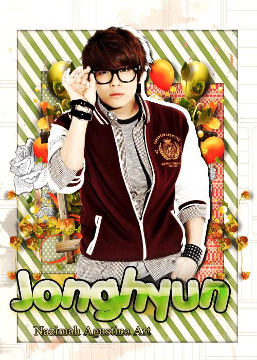 shinee jonghyun school art cover poster by nazimah agustina